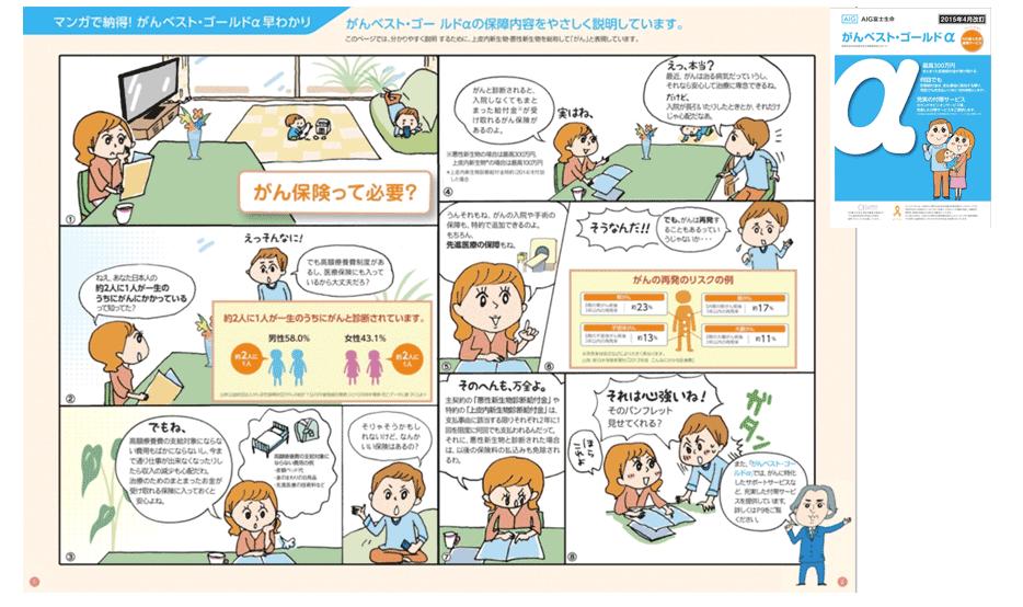 AIG富士生命 保険パンフレット