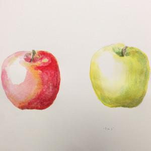 オリジナルイラスト りんご